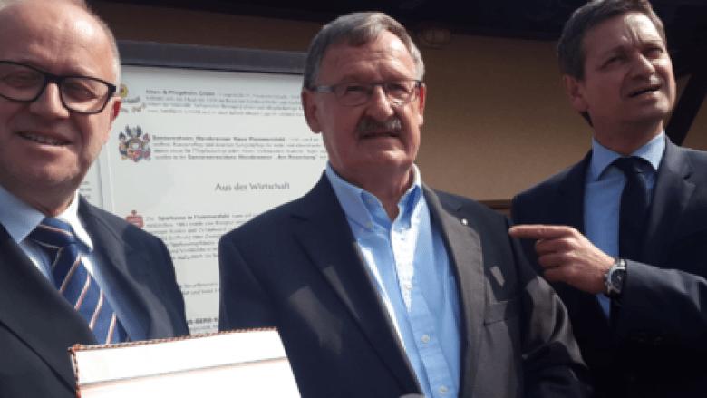 Christian Baldauf und Peter Enders würdigen das CDU Engagement von Josef Zolk