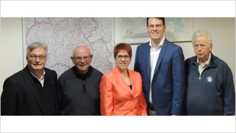 Bild von links: Thomas Wunder (CDA Neuwied), Horst Krütgen, Jessica Weller, Lars Peter Dörr und Heinz-Theo Dinklage