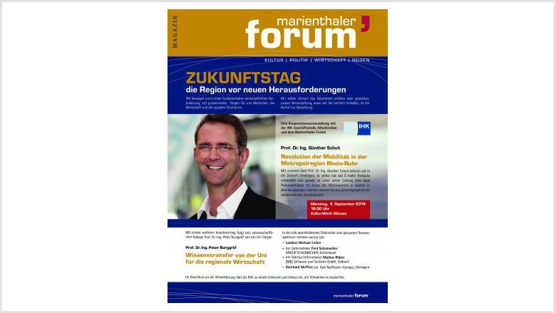 Marienthaler Forum und IHK laden ein zum Zukunftstag – 04. September 2018 – 18.00 Uhr – Kulturwerk Wissen – Teilnahme ist kostenfrei